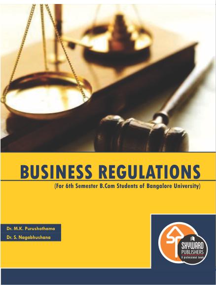BUY Bussiness Regulations for b.com 6th sem online
