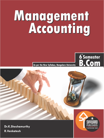 BUY Management Accounting for b.com 6th sem online